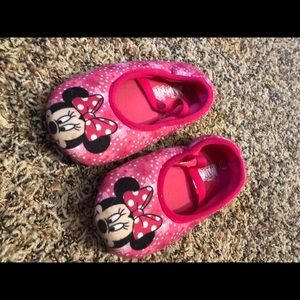 Disney Minnie Mouse Pink Slip On Slipper Shoes